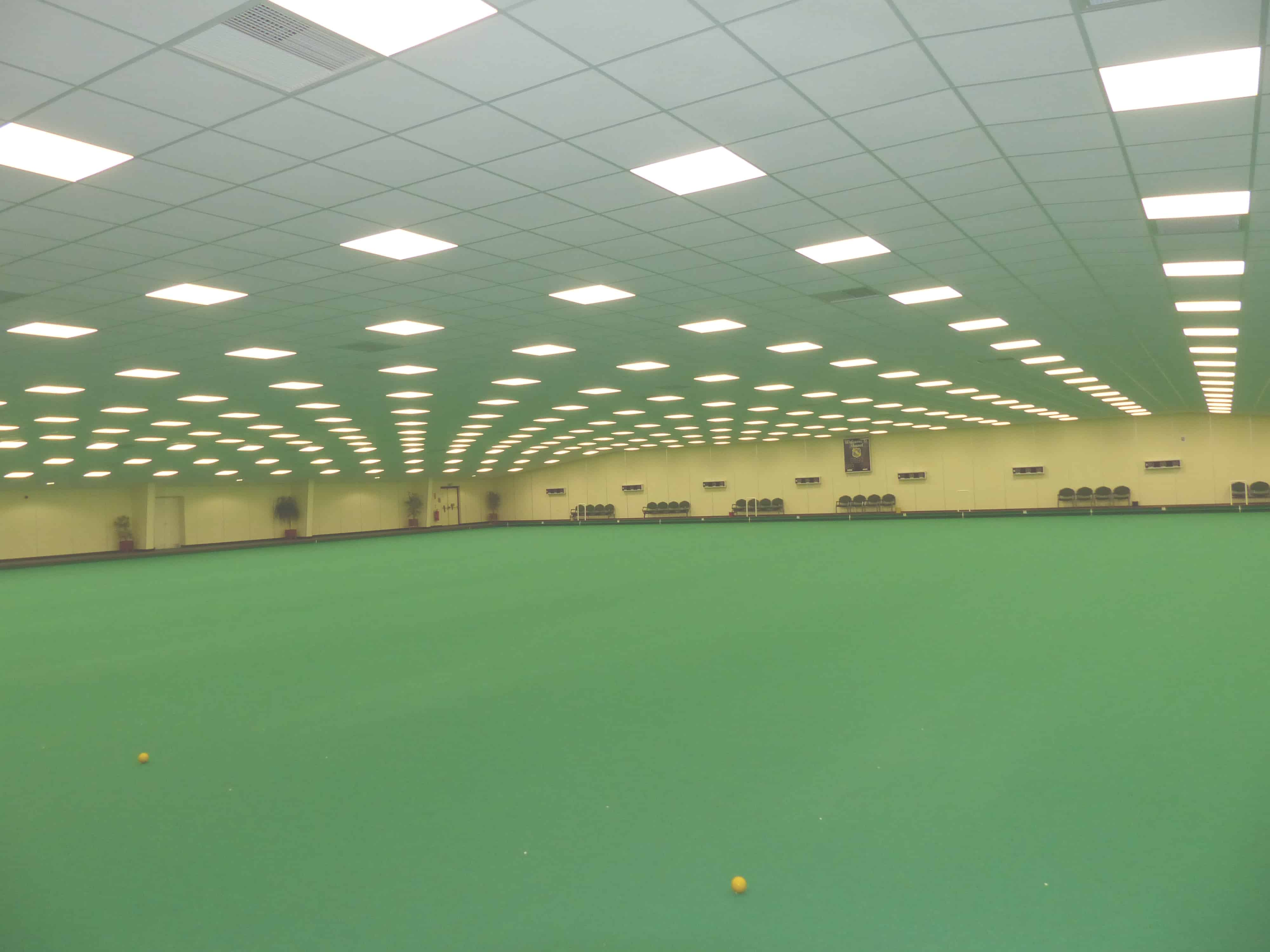 Thanet Indoor Bowls Club green