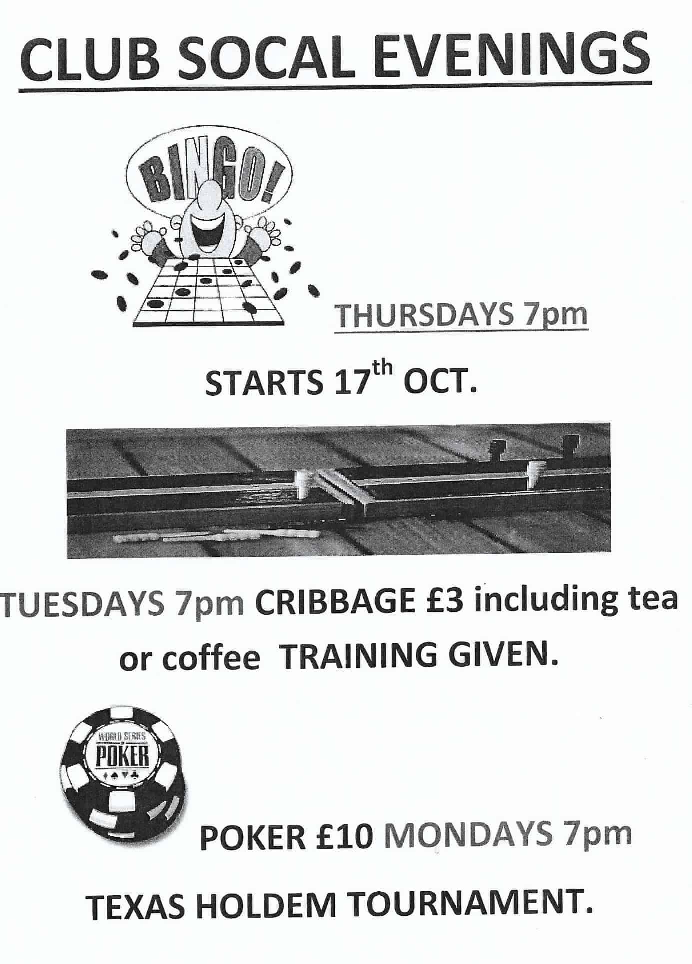 Thanet Indoor Bowls Club social evenings